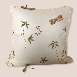 Austin Horn Classics dragonfly embroidered pillow
